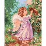 Картина по номерам - Ангел с щенком (без коробки)