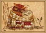 """Набор для вышивания нитками на канве с фоновым рисунком """"Семейное тепло"""""""