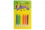 Краска, аква-гримм в карандашах, 6 цветов, неон