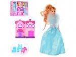 Игрушечный домик для кукол типа Барби