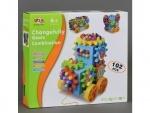 Конструктор детский на шестерёнках, 102 детали