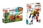 Конструктор Ninja 2в1 дракон+робот