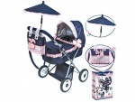 Детская коляска люлька с сумкой и зонтом