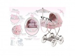 Детская коляска люлька с сумкой и зонтом, классика