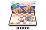 Набор магнитный 2в1 (шашки, шахматы)
