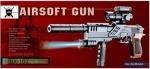 Детский пистолет Airsoft Gun с лазерным прицелом и фонарем