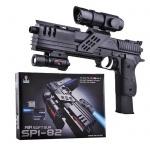 Игрушечный пистолет Air Soft Gun с оптическим прицелом и фонарем