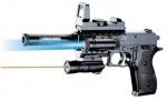 Игрушечный пистолет с оптическим прицелом и фонарем