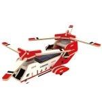 Деревянный конструктор «Вертолет СН 47» на солнечной батарее