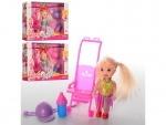 Кукла маленькая с коляской