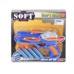 Игрушка пистолет-бластер с мягкими пулями-присосками