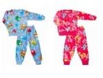 Пижама детская, махра р.72