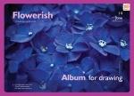 """Альбом для рисования А4 20л/100 """"Flowers"""""""