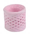 Рафия бумажная для декора - розовая.
