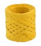 Рафия бумажная для декора - жёлтая.