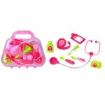 Детский набор Доктора в розовом саквояже
