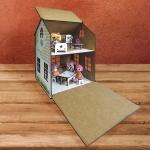 Домик для кукол деревянный с комплектом мебели