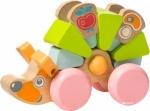 Деревянная игрушка Левеня Ежик-каталка 5 деталей