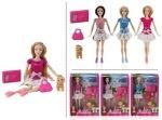 """Кукла типа """"Барби"""" 3 вида, с собачкой"""