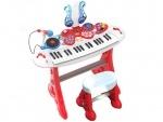 Игрушечный детский синтезатор со стульчиком