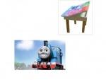 """Деревянный столик со стульчиками """"Паровозик Томас"""""""