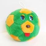Мячик с глазками зелено-оранжевый