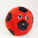 Мячик с глазками красно-черный