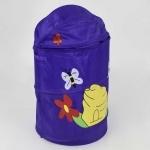 """Корзина для игрушек """"Фиолетовая с бабочками"""""""