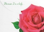 """Конверт на кнопке А4 """"Because I am а lady"""" (Роза)"""
