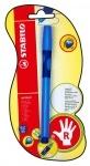 Ручка шариковая для правши синяя STABILO LEFTRIGHT, чернила синие