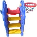 Горка пластиковая+ кольцо баскетбольное