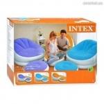 Велюр кресло с пуфом Intex