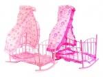 Кровать-качалка с балдахином 68см