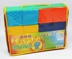 Кубики мягкие 12 шт. Цветной