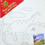 """Холст с контуром """"Динозавр 2"""" с красками"""