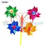 Ветрячок Бабочка голограмма набор 10 штук