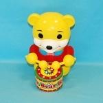 Каталка с ручкой Медведь-барабанщик